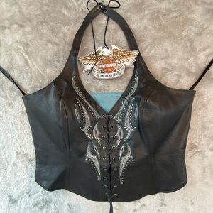 All Leather Harley Halter